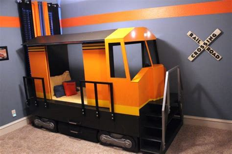 Adorable Bnsf Train Modeled Bed! Who Knows How Long The