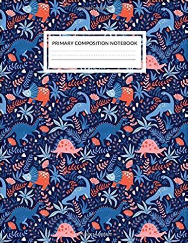primary composition notebook dinosaur park jurassic theme