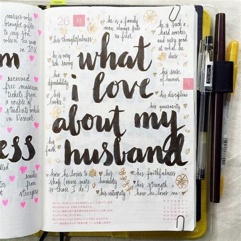What I Love About My Husband ️  Gratitude Logs  Pinterest  Bullet, Bullet Journals And Journal