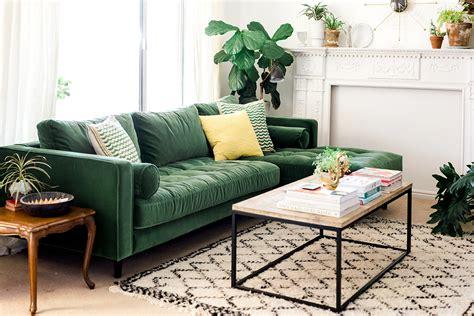 green sofa living room my green sofa the house that lars built