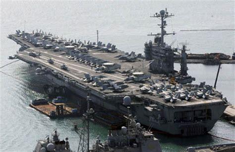 plus grand porte avion un porte avions am 233 ricain se rendra en cor 233 e du sud pour participer 224 un exercice militaire le