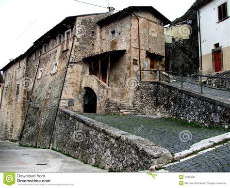 ancient house  italian mountain village stock photo image