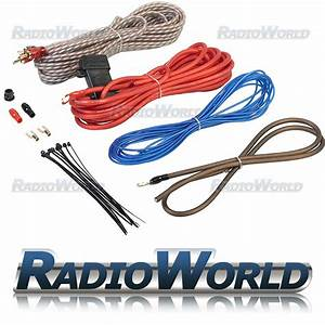 1000w Complete Amplifier  Amp Wiring Kit 10 Gauge Awg