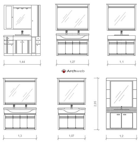 Bagni Cad by Mobili Bagno Autocad Dwg
