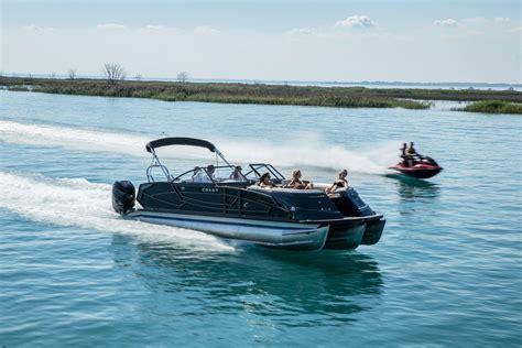 crest continental  nx  twin engine pontoon boat