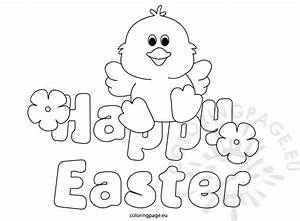 Happy Easter 2016 | Coloring Page