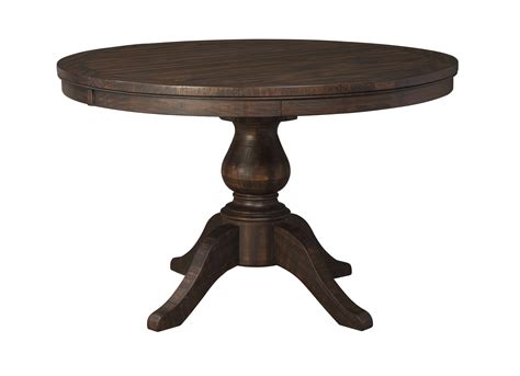 ashley furniture round table ashley furniture trudell brown round extension table top