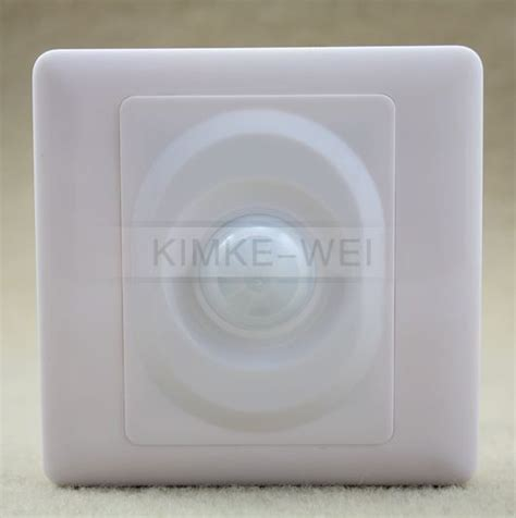 ac 100v 250v wall plate infrared pir motion sensor