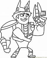 Coloring Sling King Slugterra Coloringpages101 Cartoon sketch template