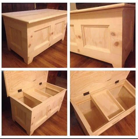 hand  wooden toy box built   husband   solid pine   great   nursery