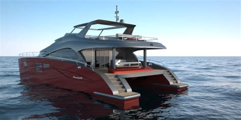 Catamaran Motor Yachts For Sale by Motor Yacht 60 Sunreef Power Catamaran Rendering