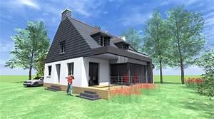 Agrandissement Maison : agrandissement maison 1 2 vue architecte lise ~ Nature-et-papiers.com Idées de Décoration