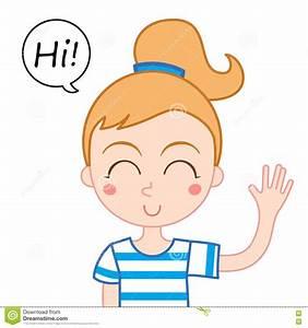 brunette girl waving hi clipart - Clipground