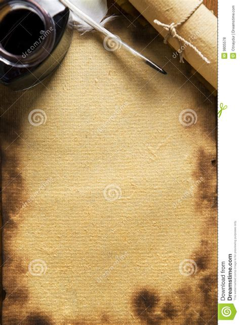 paper quill   scroll  wooden paper stock