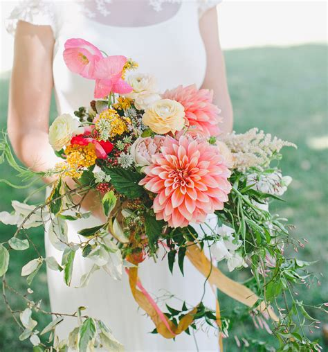A Cheery Springtime Wedding With A Train Ride Through The