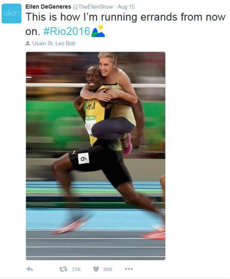 Ellen Degeneres Meme - ellen degeneres breaks silence following usain bolt racist meme photo 1