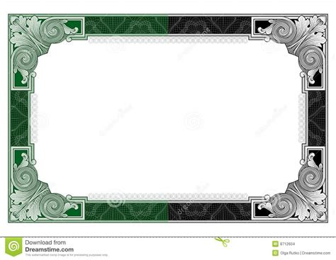 secure design frame vector  stock vector illustration