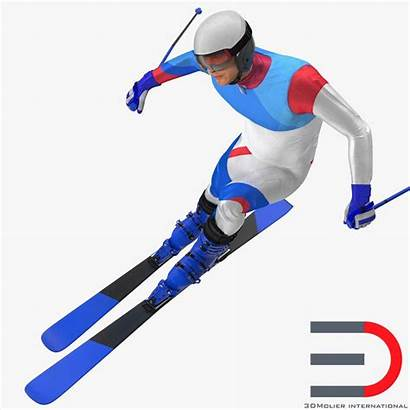 Skier Turbosquid Generic Male Rigged Goggles Ski