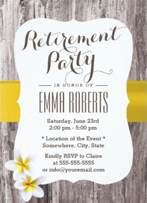 retirement invitation templates psd ai word