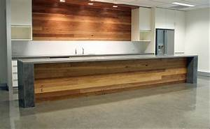 Kitchen island bench- formed polished concrete top (or