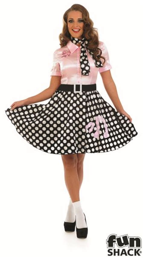 Adult Sexy 50s Rock n Roll Girl Costume Nifty Fifties Poodle Hop Fancy Dress