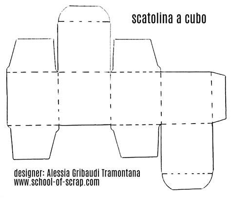 figure da ritagliare e ricomporre cubo da ritagliare