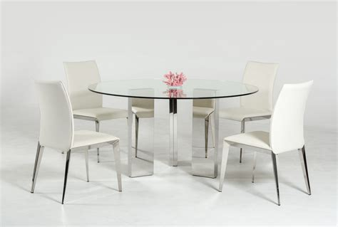 modrest colin contemporary  glass dining table