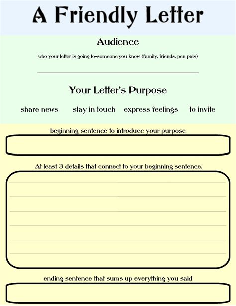a friendly letter schooling at home happenings friendly letter organzier 20320