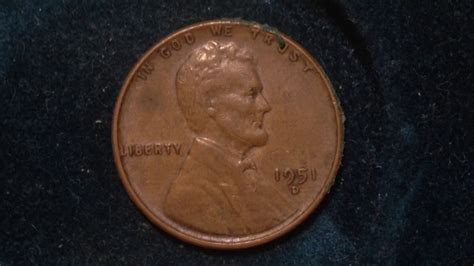 1951 D Lincoln Wheat Penny (mintage 625 Million)