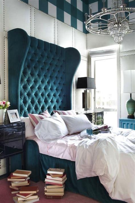 Peacock Blue Bedroom by Peacock Blue Headboard Eclectic Bedroom Decor