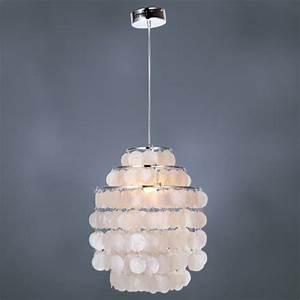 Lightinthebox white shell pendant chandelier chrome
