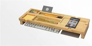 Bamboo Keyboard Top Desk Tidy Bamboo Keyboard Organiser