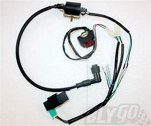 Complete Kick Start Engine Wiring Harness Loom 50cc 125cc