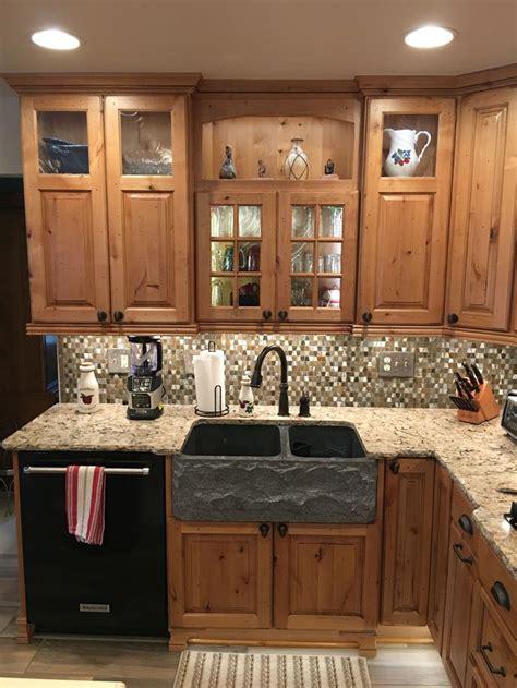 rustic kitchen  showplace cabinetry rustic alder