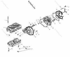 Polaris Watercraft 2002 Oem Parts Diagram For Crankcase W025101c    W025101i