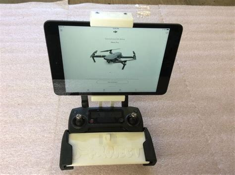 white dji mavic pro mobile device holder  ipad mini