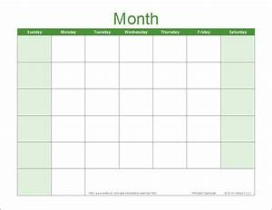 blank calendar template free printable blank calendars With calendar template by vertex42 com