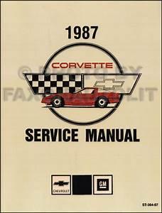 1987 Corvette Repair Shop Manual Original