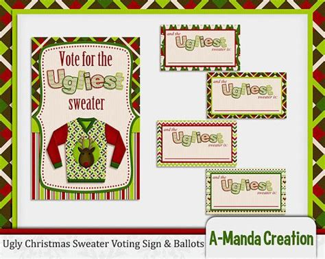 christmas ugly sweater voting clipart   cliparts