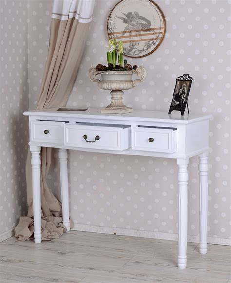 shabby chic console table console antique wall white lanhausstil sideboard