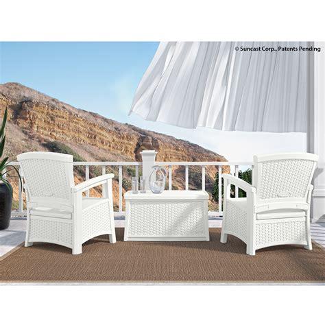 Suncast Patio Furniture Cushions by Suncast Elements Classic Patio Set White Outdoor