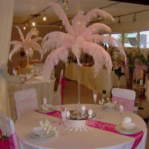 2016 new arrival diy ostrich feathers plume centerpiece
