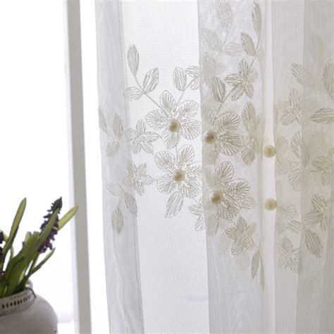 embroidered sheer curtains promotion shop for promotional