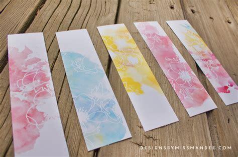 watercolor bookmarks book reviews designs   mandee