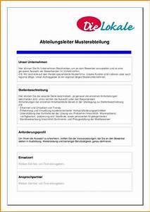 5 stellenanzeige muster questionnaire templated With stellenanzeige schreiben vorlage