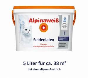 Alpina Wandfarbe Weiß : alpina alpinawei seidenlatex latexfarbe wandfarbe wei ~ Articles-book.com Haus und Dekorationen