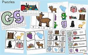 letter g preschool printable pack fun with mama With 3 letter word building puzzles