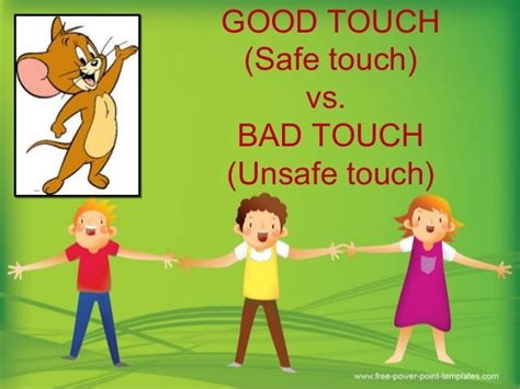 good touch bad touchsafe  unsafe touch