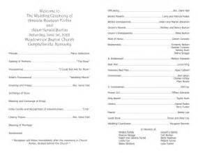 wedding programs template wedding program template 9