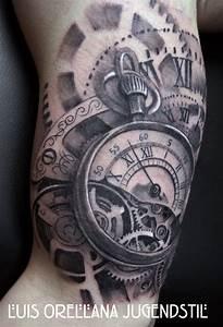 Gears Clock Tattoo by mojoncio.deviantart.com on ...